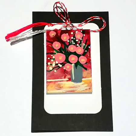 Martisor handmade, Mini tablou pictat, diverse modele7
