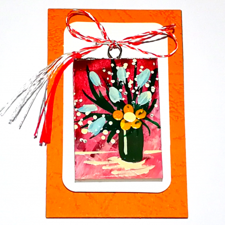 Martisor handmade, Mini tablou pictat, diverse modele4