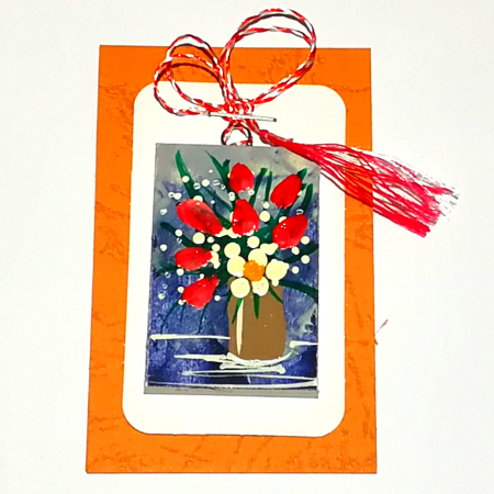 Martisor handmade, Mini tablou pictat, diverse modele3