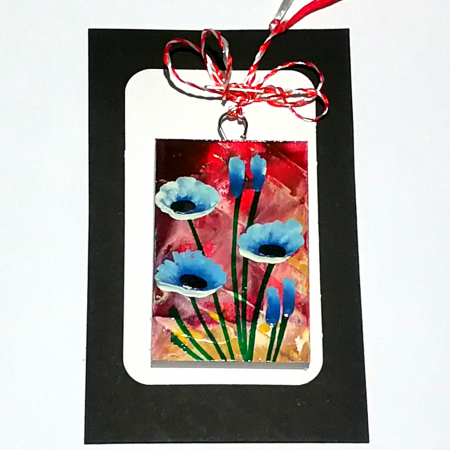 Martisor handmade, Mini tablou pictat, diverse modele2