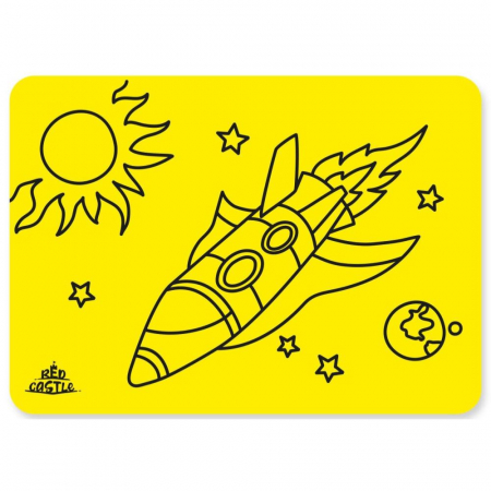 RACHETA, Set creativ Pictura cu nisip colorat, 1 plansa 21 x 29,7 cm, 10 plicuri nisip multicolor, 1 betisor, 1 folie protectie, + 3 ani1