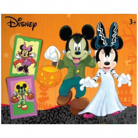 Pictura cu nisip colorat Mickey & Minnie Mouse Halloween [1]