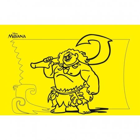 MAUI - MOANA, Disney, Set creativ Pictura cu nisip colorat, 1 plansa 21 x 29,7 cm, 10 plicuri nisip multicolor, 1 betisor, 1 folie protectie, + 3 ani1