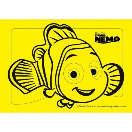 NEMO, Disney, Set creativ Pictura cu nisip colorat, 1 plansa 21 x 29,7 cm, 10 plicuri nisip multicolor, 1 betisor, 1 folie protectie, + 3 ani1