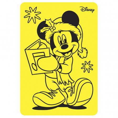 Pictura cu nisip colorat Minnie & Mickey Mouse Santa [1]