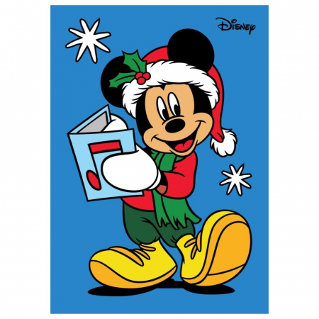 Pictura cu nisip colorat Minnie & Mickey Mouse Santa [2]
