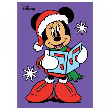 Minnie Mouse Santa, Disney, Set creativ Pictura cu nisip colorat, 1 plansa 21 x 29,7 cm, 10 plicuri nisip multicolor, 1 betisor, 1 folie protectie, + 3 ani0