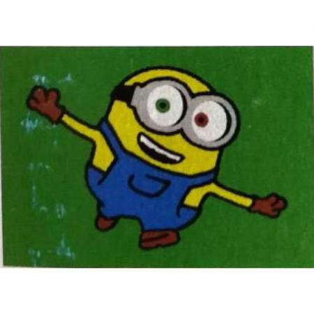 Minion – Stuart, Bob, Agnes, Disney, Set creativ pictura cu nisip colorat, 4 planse 11,75 x 16,5 cm, 4 suporti carton, 16 tuburi nisip multicolor, 1 penseta, 4 folii protectie, + 3 ani3