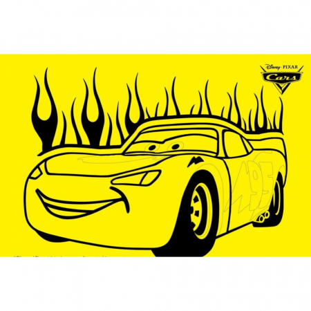 CARS - Fulger McQueen, Disney, Set creativ Pictura cu nisip colorat, 1 plansa 21 x 29,7 cm, 10 plicuri nisip multicolor, 1 betisor, 1 folie protectie, + 3 ani0