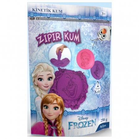 Frozen, Disney, Nisip kinetic, 250 g, mov, 2 forme imagini Elsa si Olaf, + 3 ani0