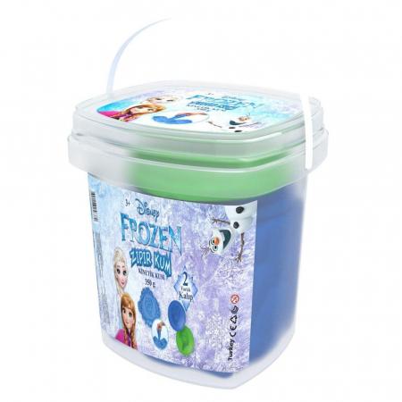 Frozen, Disney, Nisip kinetic, 350 g, albastru, 4 forme Elsa, Anna si Olaf, + 3 ani0