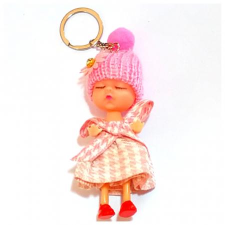 PAPUSA Breloc cu caciulita roz, rosu, gri, set 3 buc1