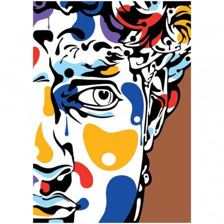 PORTRET, Set creativ, pictura cu nisip colorat, 1 plansa 23,5 x 33 cm, 22 tuburi nisip multicolor, 1 penseta, 1 folie protectie, pentru 10 – 99 ani2