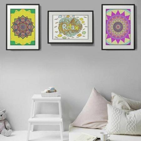 RELAX, Set creativ, pictura cu nisip colorat, 1 plansa 23,5 x 33 cm, 22 tuburi nisip multicolor, 1 penseta, 1 folie protectie, pentru 10 – 99 ani4