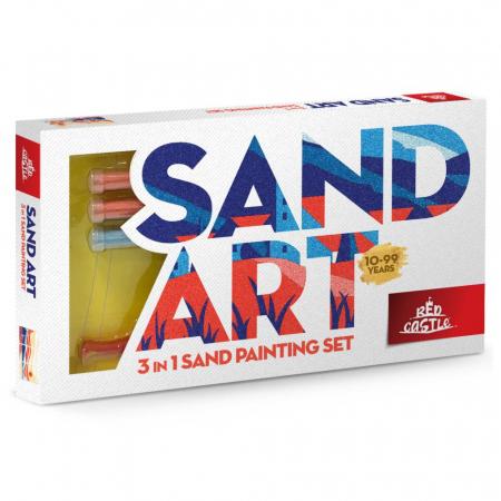 Apus de Soare, Set creativ, pictura cu nisip colorat, 3 planse 18 x 32 cm, 22 tuburi nisip multicolor, 1 penseta, 3 folii protectie, pentru 10 – 99 ani0