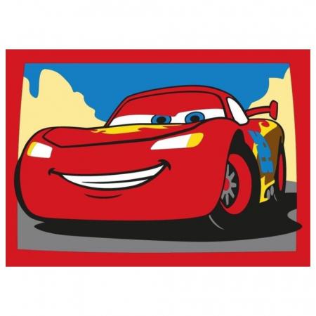 Cars 3 - Fulger McQueen & Jackson Storm, Disney, Set creativ pictura cu nisip colorat, 2 planse 16,5 x 23,5 cm, 15 tuburi nisip multicolor, 1 penseta, 2 folii protectie, + 3 ani1