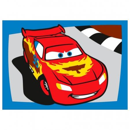 Cars - Fulger McQueen & Francesco Bernoulli, Disney, Set creativ pictura cu nisip colorat, 2 planse 16,5 x 23,5 cm, 15 tuburi nisip multicolor, 1 penseta, 2 folii protectie, + 3 ani2