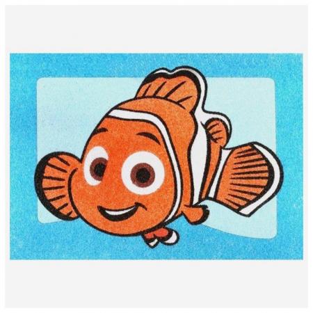 Dori & Nemo & Squirt, Disney, Set creativ pictura cu nisip colorat, 4 planse 11,75 x 16,5 cm, 4 suporti carton, 16 tuburi nisip multicolor, 1 penseta, 4 folii protectie, + 3 ani2