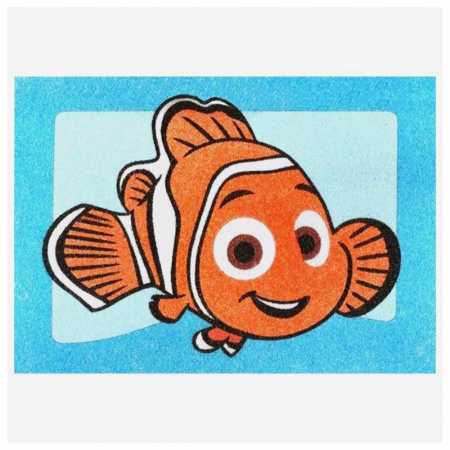 Dory & Nemo, Disney, Set creativ pictura cu nisip colorat, 2 planse 16,5 x 23,5 cm, 15 tuburi nisip multicolor, 1 penseta, 2 folii protectie, + 3 ani3