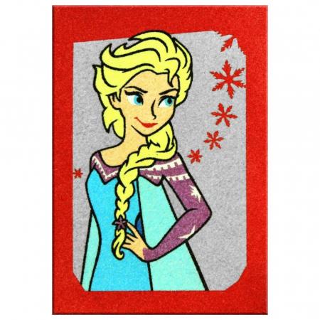 Frozen – Elsa & Anna, Disney, Set creativ pictura cu nisip colorat, 2 planse 16,5 x 23,5 cm, 15 tuburi nisip multicolor, 1 penseta, 2 folii protectie, + 3 ani1