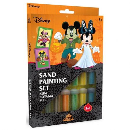 Pictura cu nisip colorat Mickey & Minnie Mouse Halloween [0]