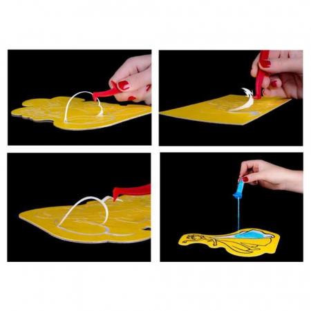 Dori & Nemo & Squirt, Disney, Set creativ pictura cu nisip colorat, 4 planse 11,75 x 16,5 cm, 4 suporti carton, 16 tuburi nisip multicolor, 1 penseta, 4 folii protectie, + 3 ani9