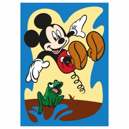 Mickey Mouse & Donald Duck, Disney, Set creativ pictura cu nisip colorat, 2 planse 16,5 x 23,5 cm, 15 tuburi nisip multicolor, 1 penseta, 2 folii protectie, + 3 ani3