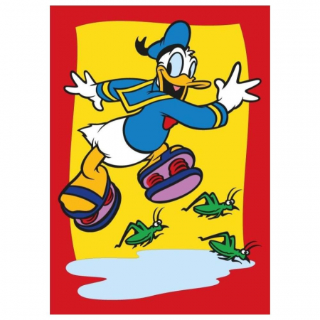 Mickey Mouse & Donald Duck, Disney, Set creativ pictura cu nisip colorat, 2 planse 16,5 x 23,5 cm, 15 tuburi nisip multicolor, 1 penseta, 2 folii protectie, + 3 ani4