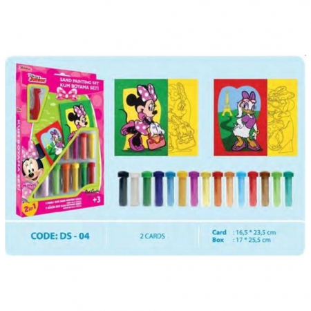 Pictura cu nisip colorat Minnie Mouse & Daisy Duck [1]