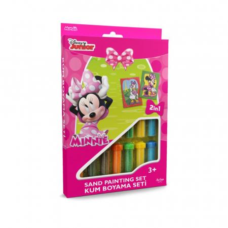 Minnie Mouse & Daisy Duck, Disney, Set creativ pictura cu nisip colorat, 2 planse 16,5 x 23,5 cm, 15 tuburi nisip multicolor, 1 penseta, 2 folii protectie, + 3 ani0