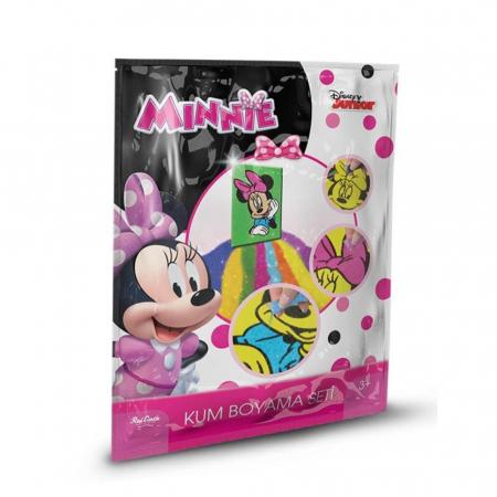 Minnie Mouse, Disney, Set creativ pictura cu nisip colorat, 1 plansa 16,5 x 23,5 cm, 7 tuburi nisip multicolor, 1 betisor, 1 folie protectie, + 3 ani0