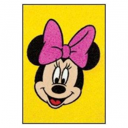 Minnie Mouse, Disney, Set creativ pictura cu nisip colorat, 4 planse 11,75 x 16,5 cm, 4 suporti carton, 16 tuburi nisip multicolor, 1 penseta, 4 folii protectie, + 3 ani3