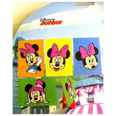 Minnie Mouse, Disney, Set creativ pictura cu nisip colorat, 4 planse 11,75 x 16,5 cm, 4 suporti carton, 16 tuburi nisip multicolor, 1 penseta, 4 folii protectie, + 3 ani1
