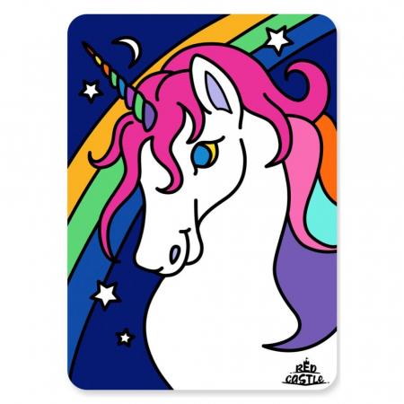 Unicorn bust, Set creativ Pictura cu nisip colorat, 1 plansa 21 x 29,7 cm, 10 plicuri nisip multicolor, 1 betisor, 1 folie protectie, + 3 ani0