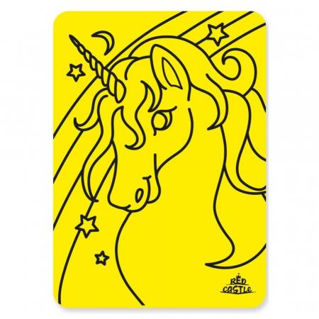Unicorn bust, Set creativ Pictura cu nisip colorat, 1 plansa 21 x 29,7 cm, 10 plicuri nisip multicolor, 1 betisor, 1 folie protectie, + 3 ani1