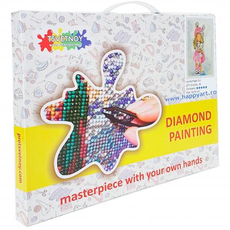 Set Goblen cu diamante, cu sasiu, Papusa OLIVIA, 30x40 cm, 35 culori [2]