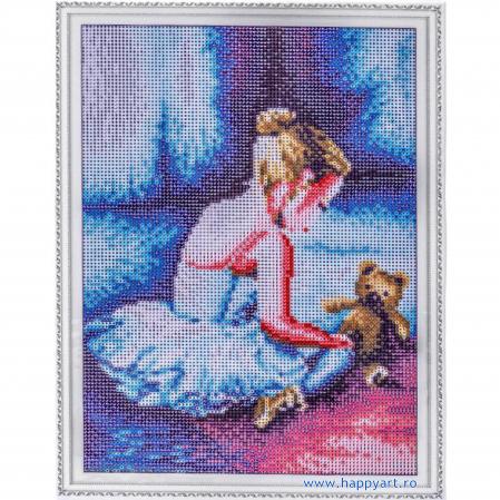 Set Goblen cu diamante, cu sasiu, Balerina - Primii Pasi, 30x40 cm, 26 culori [1]