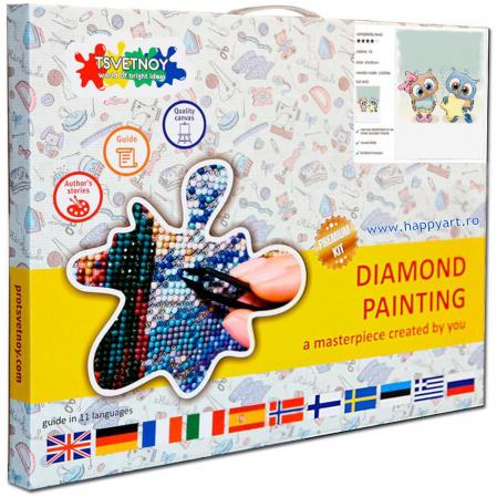 Set Goblen cu diamante, cu sasiu, Steluta in Dar, 20x30 cm, 19 culori [2]