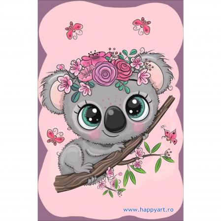 Set Goblen cu diamante, cu sasiu, Micul Koala, 20x30 cm, 12 culori [0]