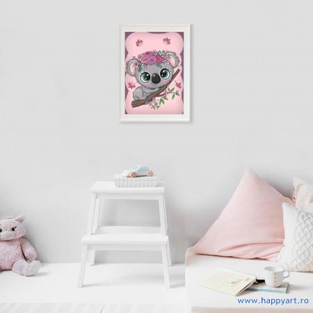 Set Goblen cu diamante, cu sasiu, Micul Koala, 20x30 cm, 12 culori [2]