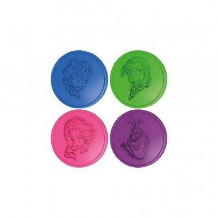 Frozen, Disney, Set Nisip kinetic, 4x200 g, mov, albastru, roz si verde, 4 forme Elsa, Anna si Olaf, + 3 ani2