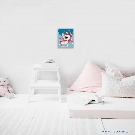 Set pictura pe numere, cu sasiu, Unicor Magic, 20x30 cm [2]
