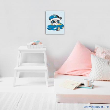 Set pictura pe numere, cu sasiu, Micul Panda, 20x30 cm, 18 culori [2]