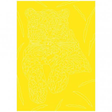 TIGRU, Set creativ, pictura cu nisip colorat, 1 plansa 23,5 x 33 cm, 22 tuburi nisip multicolor, 1 penseta, 1 folie protectie, pentru 10 – 99 ani3