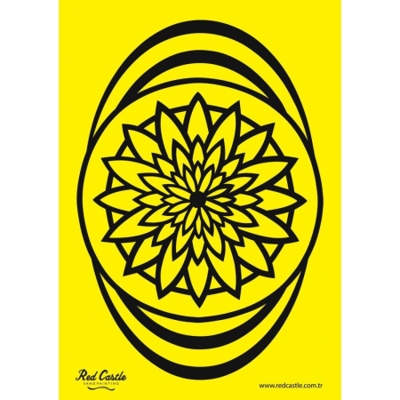 MANDALA floare, Set creativ Pictura cu nisip colorat, 1 plansa 21 x 29,7 cm, 10 plicuri nisip multicolor, 1 betisor, 1 folie protectie, + 3 ani1
