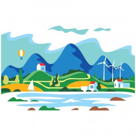 VACANTA DE VARA, Set creativ, pictura cu nisip colorat, 1 plansa 23,5 x 33 cm, 22 tuburi nisip multicolor, 1 penseta, 1 folie protectie, pentru 10 – 99 ani2