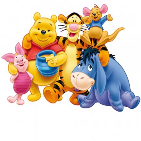 Winnie The Pooh & Piglet & Tigger & Eeyore, Disney, Set creativ pictura cu nisip colorat, 4 planse 11,75 x 16,5 cm, 4 suporti carton, 16 tuburi nisip multicolor, 1 penseta, 4 folii protectie, + 3 ani6