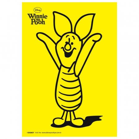 Winnie The Pooh & Piglet & Tigger & Eeyore, Disney, Set creativ pictura cu nisip colorat, 4 planse 11,75 x 16,5 cm, 4 suporti carton, 16 tuburi nisip multicolor, 1 penseta, 4 folii protectie, + 3 ani3