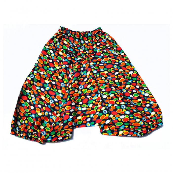 Șalvari din Bumbac Buline Multicolor 104/116 [0]