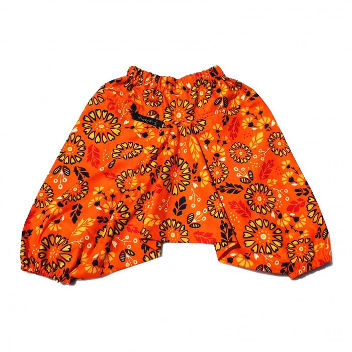 Șalvari din Bumbac - Flori Portocaliu 104/116 0